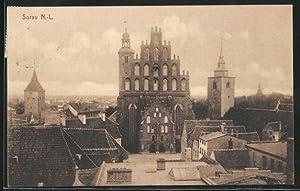 Ansichtskarte Sorau / Zary, Ansicht einer Kathedrale