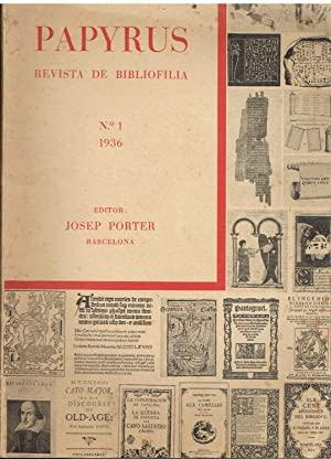 Papyrus, nº 1. . Revista de Bibliofilia.: Josep Porter, Editor.