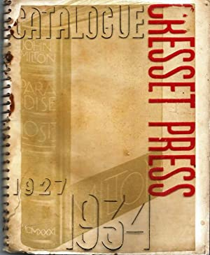 Cresset Press Catalogue 1927-1934