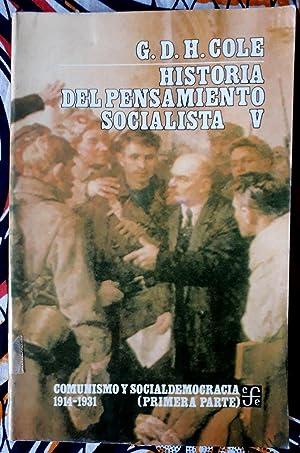 Historia del pensamiento socialista V. Comunismo y: G. D. H.
