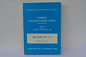CURSO PREUNIVERSITARIO MATEMATICAS Y PRUEBA COMUN 1967: RODRIGUEZ LESMES, DACIO