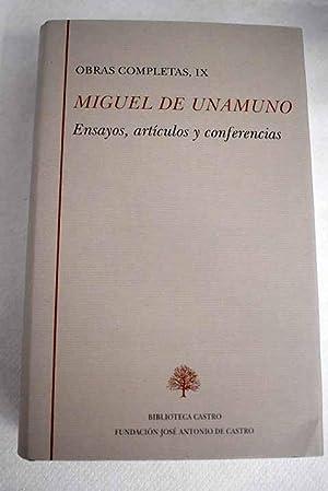 Obras completas, tomo IX:: Crítica del problema: Unamuno, Miguel de