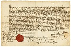 [MANUSCRIPT DOCUMENT, SIGNED, BEING A DEED FOR THE SALE OF PROPERTY IN COLONIAL PHILADELPHIA INVO...