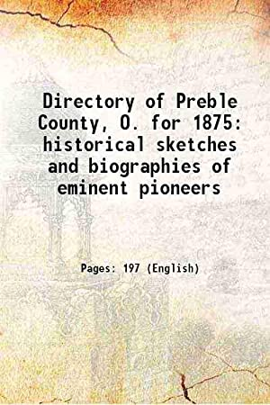 Directory of Preble County, O. for 1875: Anonymous