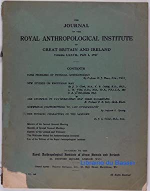 The Journal of the Royal Anthropological Institute of Great Britain and Ireland Volume LXXVII Part I