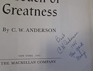 A Touch of Greatness: ANDERSON C W
