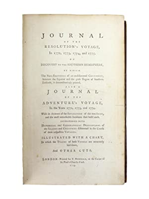 Journal of the Resolution s Voyage in: COOK, CAPTAIN JAMES