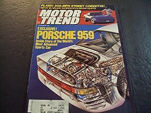Motor Trend Sep 1985 Exclusive Porsche 959