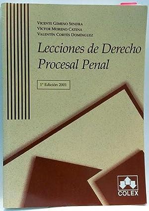 Lecciones de derecho procesal penal: Gimeno Sendra, Vicente;