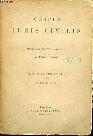 Corpus Juris Civilis - Editio Stereotypa Quarta: Krueger Paulus