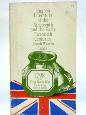 English literature of the 19th and the: Joseph Warren Beach