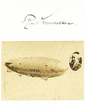 Roald Amundsen Airship Norge Signed Photograph.: Amundsen, Roald
