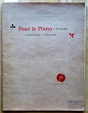 Pour le piano. Prélude, sarabande, toccata: Debussy Claude
