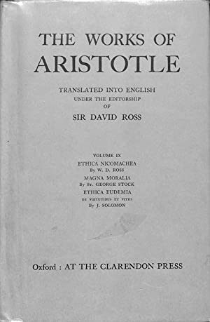 The Works of Aristotle Volume IX: Ethica: ROSS, Sir David,