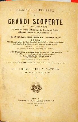 Le grandi scoperte e le loro applicazioni: Reuleaux, Francesco