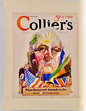 "ORIGINAL 1933 COLLIER'S COVER: ""WHAT ROOSEVELT INTENDS TO DO"""