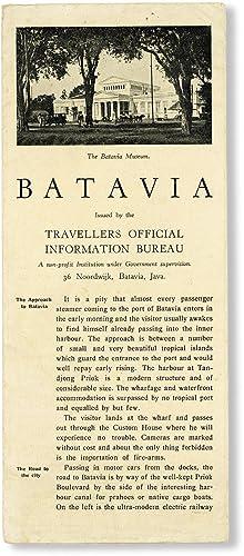 Batavia: TRAVELLERS OFFICIAL INFORMATION