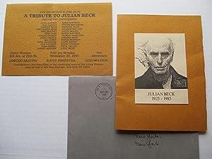 A Tribute to Julian Beck Joyce Theater: Beck, Julian