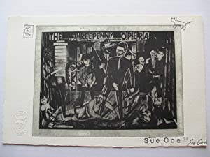 Sue Coe The Three Penny Opera 1979 Etching signed by artist