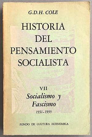 Historia del pensamiento socialista, VII. Socialismo y: COLE, G. D.