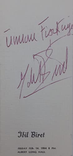 Autograph concert program signed 'Idil Biret'.