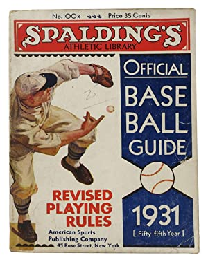 SPALDING'S OFFICIAL BASE BALL GUIDE. Fifty-fifth Year.: Baseball Literature]. Foster,