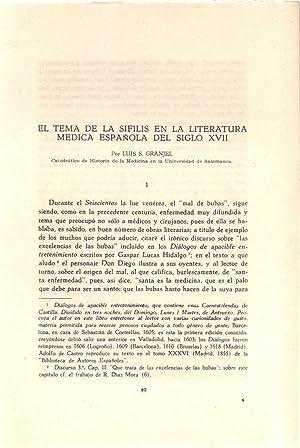 EL TEMA DELA SIFILIS EN LA LITERATURA: Luis S. Granjel