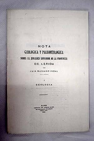 Nota geológica y paleontológica sobre el jurásico: Vidal, Luis Mariano