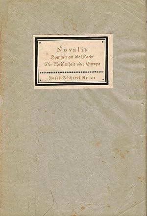 Inselbuchnr. 21 / 1A Hymnen an die: Novalis: