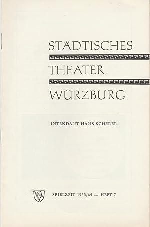 Programmheft Nico Dostal MONIKA 15. März 1964: Städtisches Theater Würzburg,