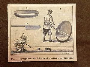 Immagine del venditore per In Giappone nel 1896 La preparazione della lacca colorata venduto da LIBRERIA IL TEMPO CHE FU