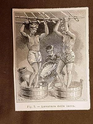 Immagine del venditore per In Giappone nel 1896 La preparazione della lacca colorata La lavatura venduto da LIBRERIA IL TEMPO CHE FU