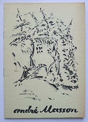 Andre Masson. Recent work and earlier paintings.: MASSON, ANDRÉ.