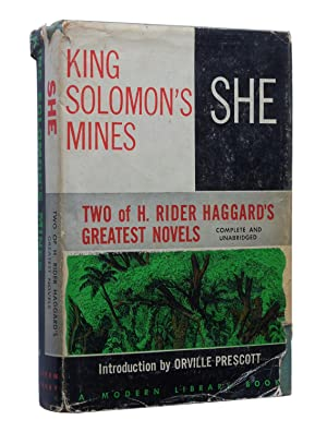 She and King Solomon's Mines: H. Rider Haggard;