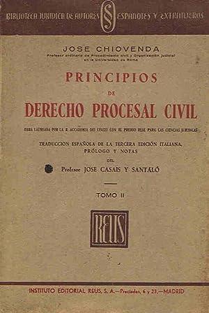 PRINCIPIOS DE DERECHO PROCESAL CIVIL. Tomo II: Chiovenda. José