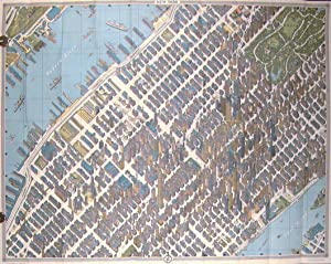 New York Map - Guide. Picture Map in Full Color. Street and Subway Maps. Official World's Fair Ed...