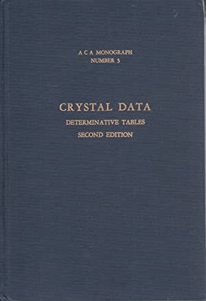 Crystal Data Determinative Tables: Donnay, J.D.H.