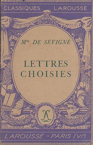 Lettres choisies. Notice biographique, notice historique et: SEVIGNE (Mme de)