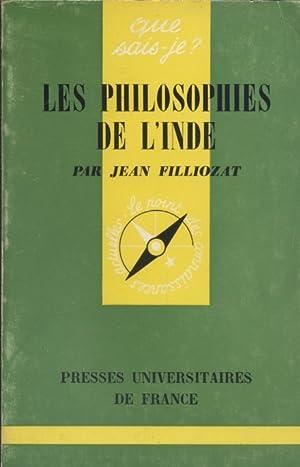 Les philosophies de l'Inde.: FILLIOZAT Jean