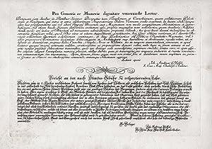 Bericht an der nach Standes-Gebühr zu respectierenden: Kleiner, Salomon (1700-1761):