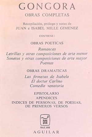 Obras completas.: GÓNGORA, Luis de.