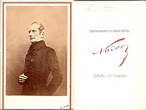 CDV Nadar, Paris, Alphonse de Lamartine, écrivain,: Photographie originale /