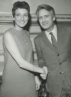 Hélène Cixous et Jorge Semprun: Photographie originale /