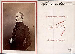 Nadar, Paris, Alphonse de Lamartine, écrivain et: Photographie originale /