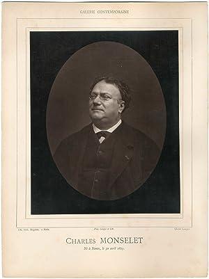 Galerie Contemporaine, Charles Monselet (1825 - 1888),: Photographie originale /
