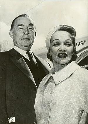 Actrice Marlene Dietrich et écrivain Erich Maria: Photographie originale /