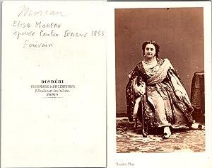 Disdéri, Paris, Elise Moreau, écrivain, épouse du: Photographie originale /