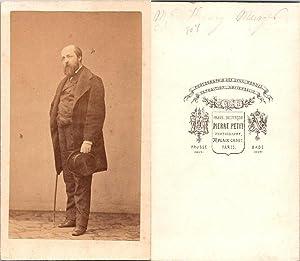 CDV Pierre Petit, Paris, Henry Murger, écrivain: Photographie originale /