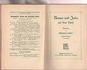 Romeo und Julia auf dem Dorfe. Miniatur-Ausgabe.: Keller, Gottfried: