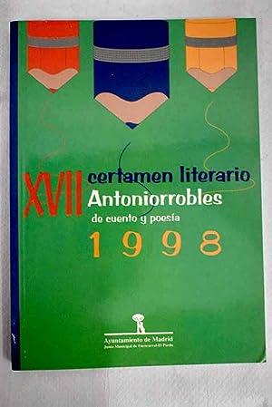 XVII certamen literario Antoniorrobles de cuento y